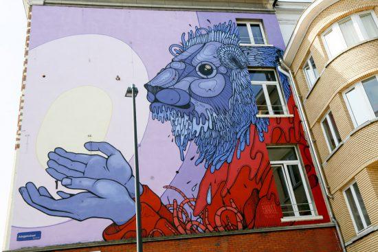 Mechelen Muurt met prachtige muurschilderingen. stedentrip Mechelen, duurzaam, bewust en groen, hotspots en bezienswaardigheden