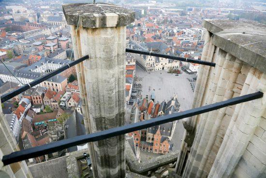 Uitzicht vanaf de Sint Romboutstoren in Mechelen. stedentrip Mechelen, duurzaam, bewust en groen, hotspots en bezienswaardigheden