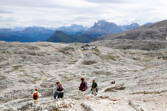 Refugio Rosetta op het Altopiano delle Pale in Trentino, duurzaam reizen, rondreis Trentino, Italie