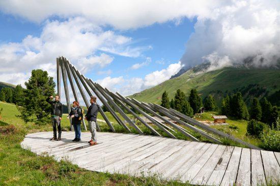 Kunst in de natuur in Val di Fiemme: de Respirart route, duurzaam reizen, rondreis Trentino, Italie, duurzame, groen, groene
