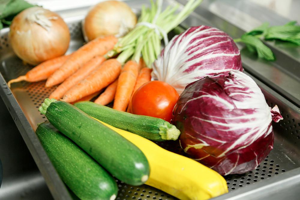 Veelzijdige en vegan, verse groenten
