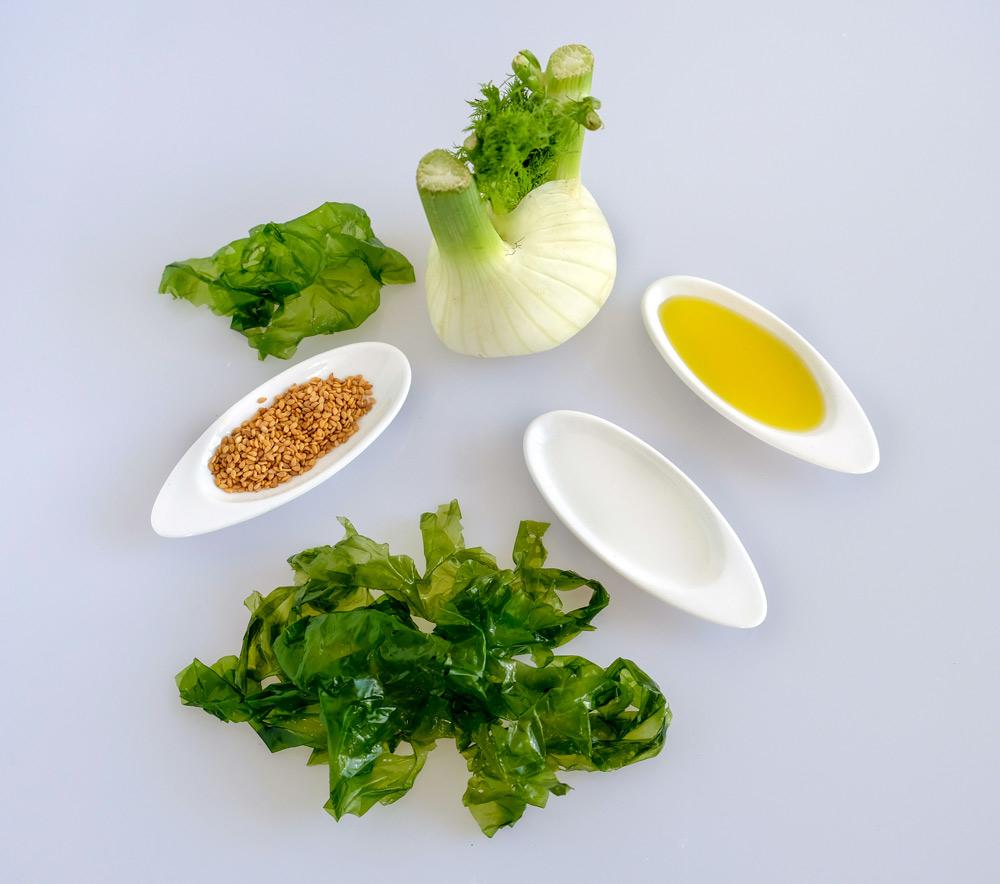 Recept met zeewier: zeesla-venkelsalade