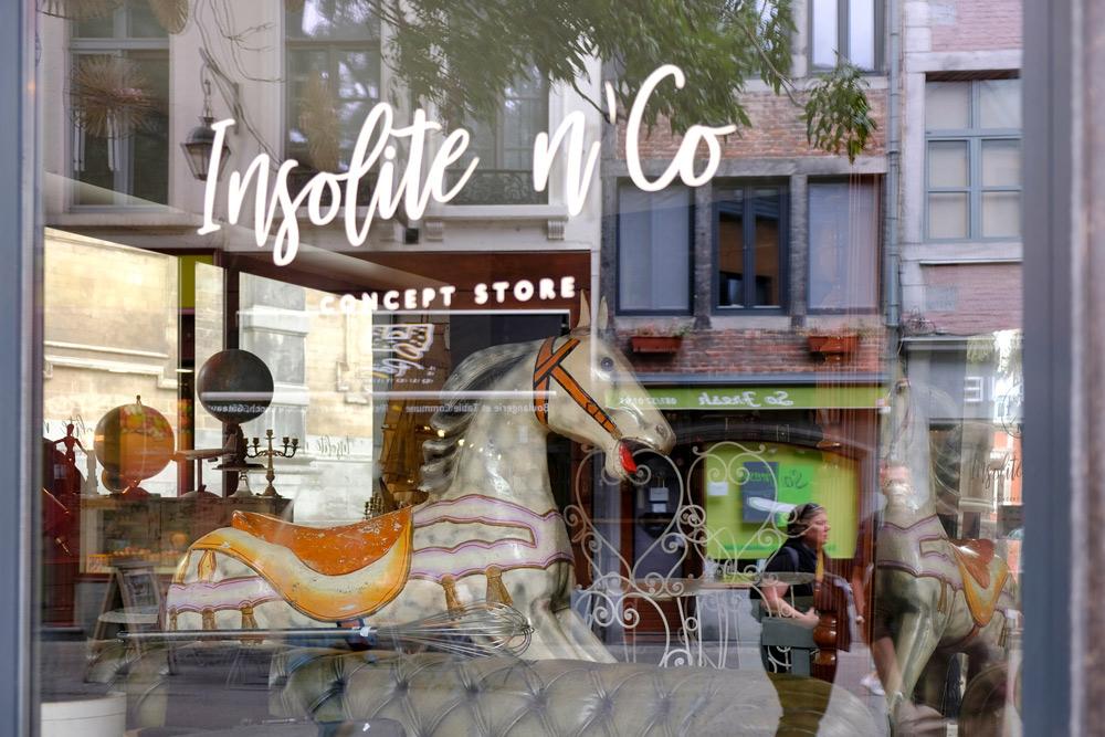 Tweedehands concept store Insolite n'Co in Namen, Belgie. duurzame stedentrip namen, Belgie, Namur, duurzame, weekendje weg, vintage, tweedehands, winkels