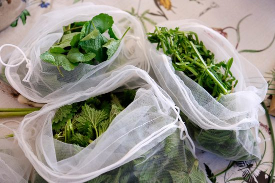 Een deel van de oogst, tijd om alles te wassen en te gaan koken. Wildplukexpeditie in Amsterdam-Noord, wildplukken, eetbare wilde planten