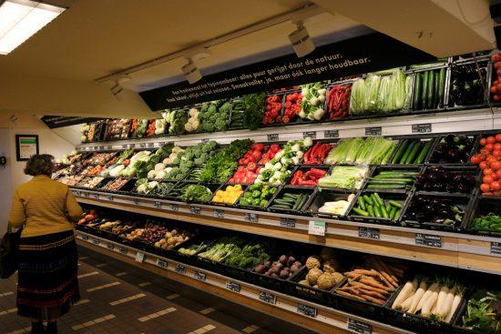 Biologische groenten bij de duurzame supermarkt Gimsel. Stedentrip Rotterdam, duurzaam, winkels, restaurants, hotspots, adresjes