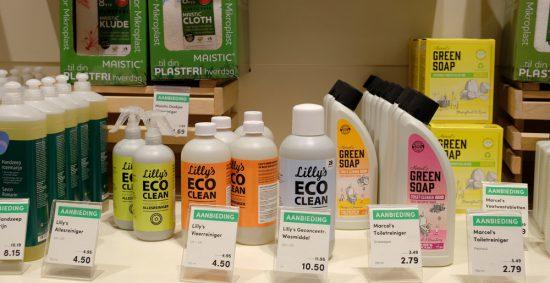 Ook schoonmaken kan 'groen' bij supermarkt Gimsel. Stedentrip Rotterdam, duurzaam, winkels, restaurants, hotspots, adresjes