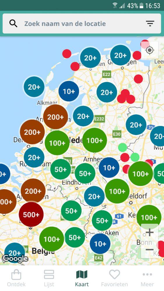 Waar je ook woont in Nederland, grote kans dat er een Too Good To Go deelnemer in de buurt zit