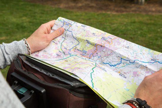 We hebben ons 'verfietst' en dus komt de kaart met de fietsroute goed van pas, Fietsen in de Bourgogne, Frankrijk