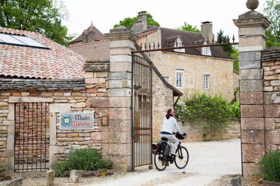 Bestemming bereikt: hotel Moulin Madame , Fietsen in de Bourgogne, Frankrijk