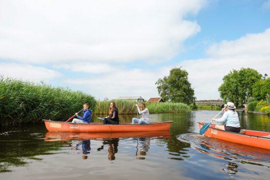Bijna botsing tijdens de Wetlands Safari. Wetlands Safari, kano tour in Ilperveld, de groene achtertuin van Amsterdam, n