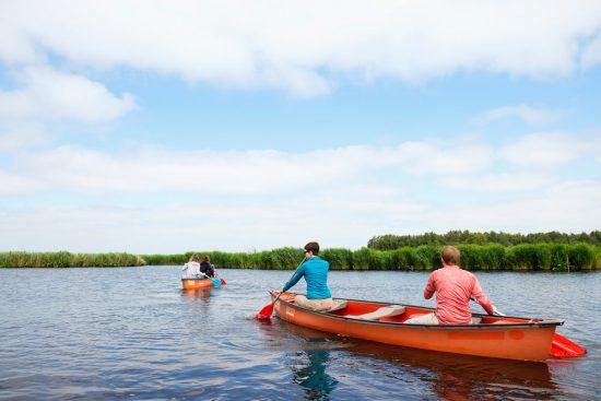 De weidse natuur helemaal voor ons groepje. Wetlands Safari, kano tour in Ilperveld, de groene achtertuin van Amsterdam, n