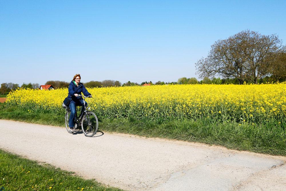 Het landschap langs de Bergstrasse fietsroute in Duitsland. Fietsvakantie Die Bergstrass, Heidelberg, Duitsland, fiets, fietsroute, rondreis, standplaats