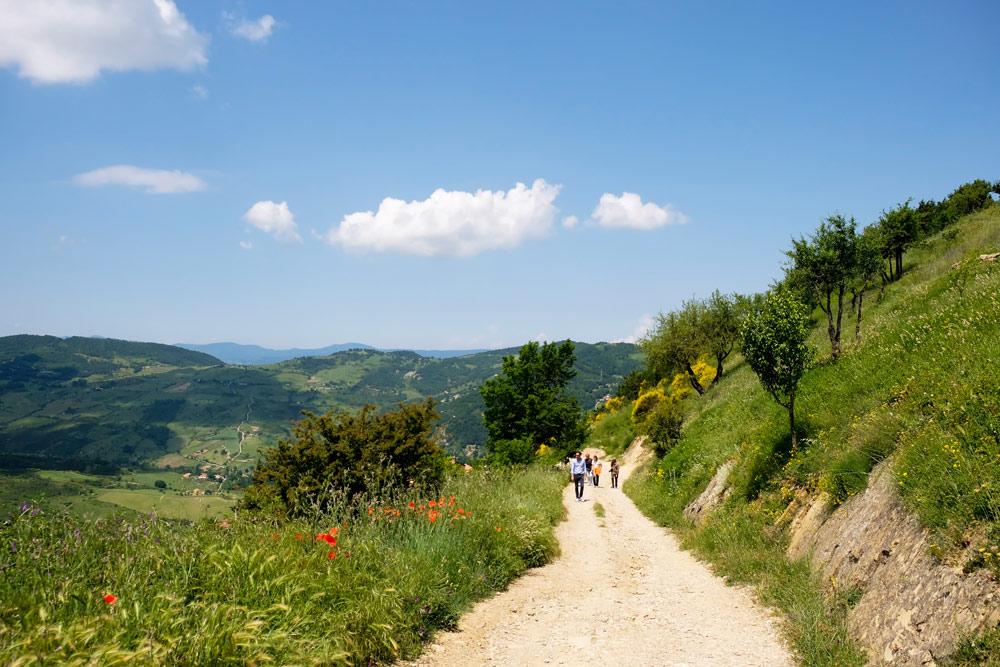 Wandelen door de Kleine Dolomieten van Lucarna. Rondreis Basilicata, Italie, langs Matera en ankele andere stadajes in de Kleine Dolomieten van Lucarna