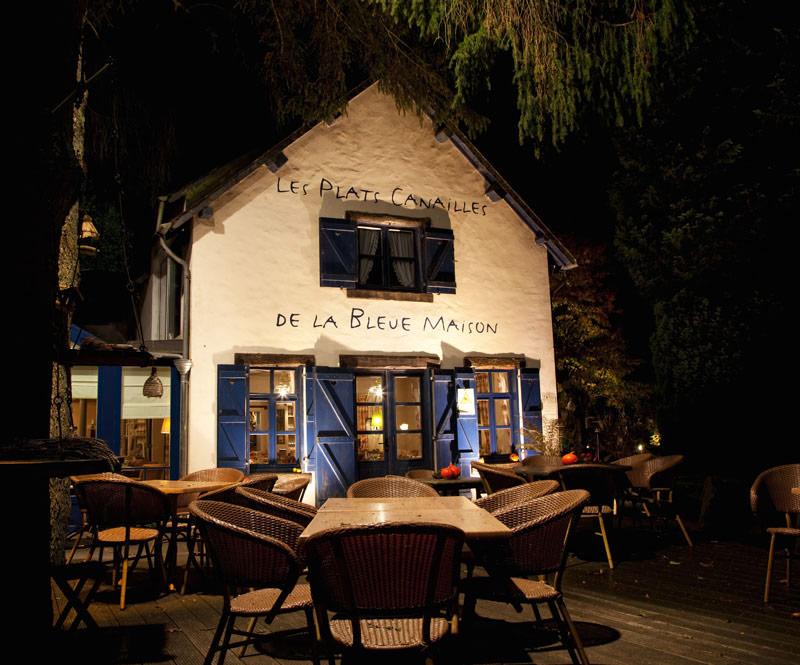 Dineren in restaurant la Bleue Maison. Rondreis La Gaume, Wallonie, Belgie, hotspots, bezienswaardigheden, roadtrip
