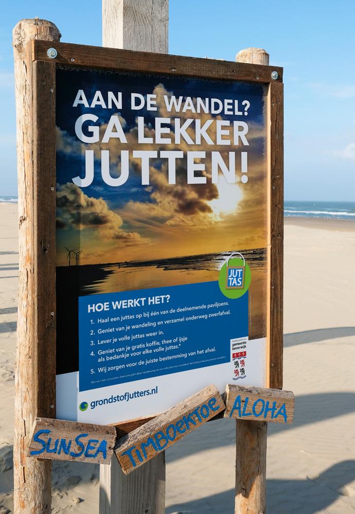 Het hele jaar door kun je met een juttas afval jutten op de Nederlandse stranden