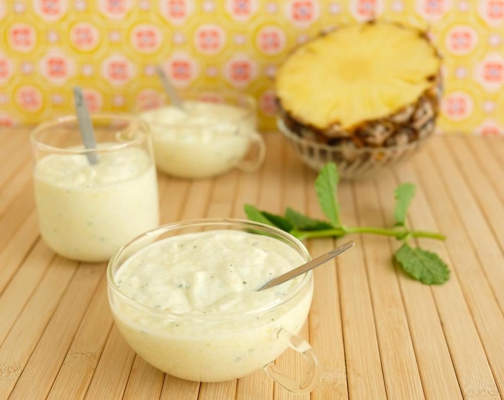 Recept: Dessert: romige mousse met ananas en munt