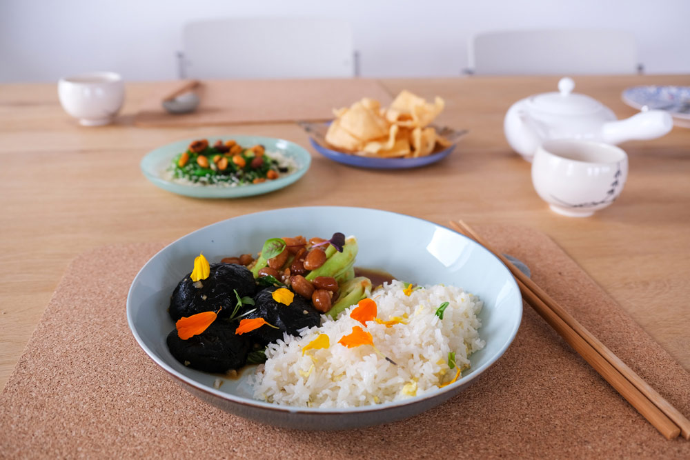 Ons favoriete hoofdgerecht met shiitake bomvol smaken, umami, thuisbezorgd maaltijden